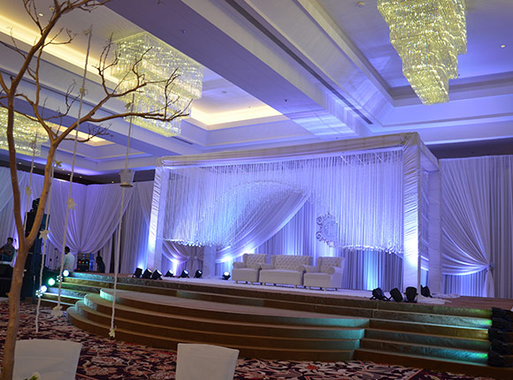 Contemporary English/ Indian Theme Wedding Decor